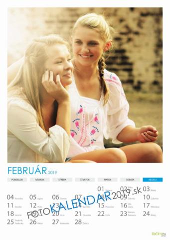 Nástenný kalendár 2019 - Február
