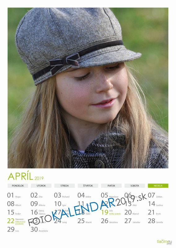 Nástenný kalendár 2019 - Apríl