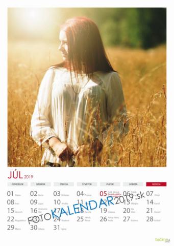 Nástenný kalendár 2019 - Júl