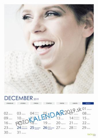 Nástenný kalendár 2019 - December